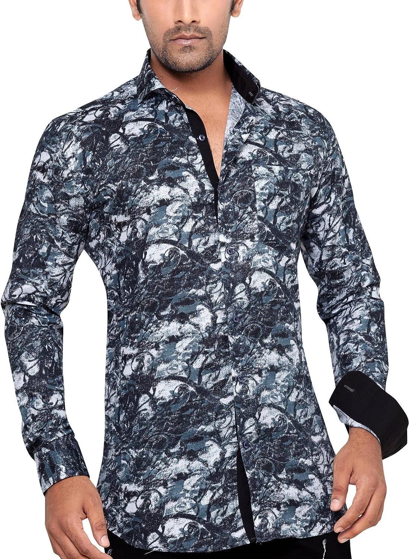 GEORGE WESTWOOD - Camisa casual - Paisley - Clásico - Manga Larga - para hombre Negro negro Small: Amazon.es: Ropa y accesorios