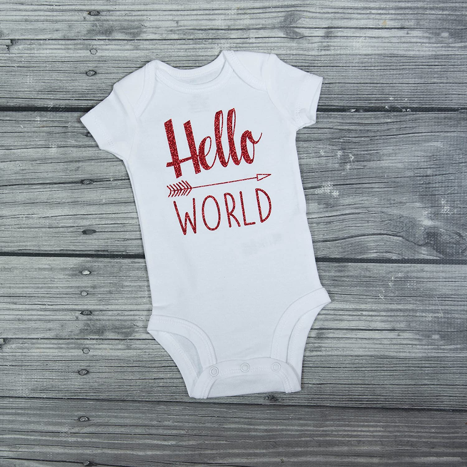 eacee508 Hello World Bodysuit - Baby Bodysuit - Newborn Bodysuit - Hello World -  Coming Home Outfit - Take home outfit - baby shower gift - baby  announcement ...