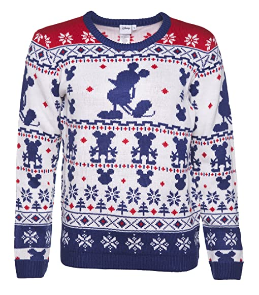 Womens Knitted Mickey Mouse Fair Isle Jumper: Amazon.co.uk: Clothing
