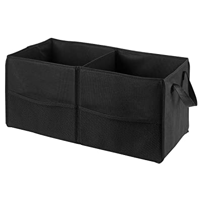 "Fold Away Car Trunk Organizer, Black - 22"" x 10"" x 11"" - Non-slip Fastener secures to your trunk and prevents sliding. Prevent items like auto supplies from rolling around or shifting in your trunk.: Home & Kitchen"
