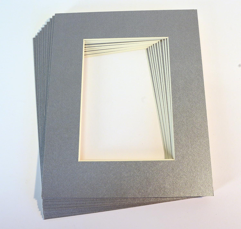 topseller100, pack de 10 mateado Plata 16 x 20 de imagen Mats con ...