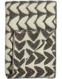 Roros Tweed Designer 100% Norwegian Wool Throw Blanket in Many Patterns (Aker in Grey/Natural)