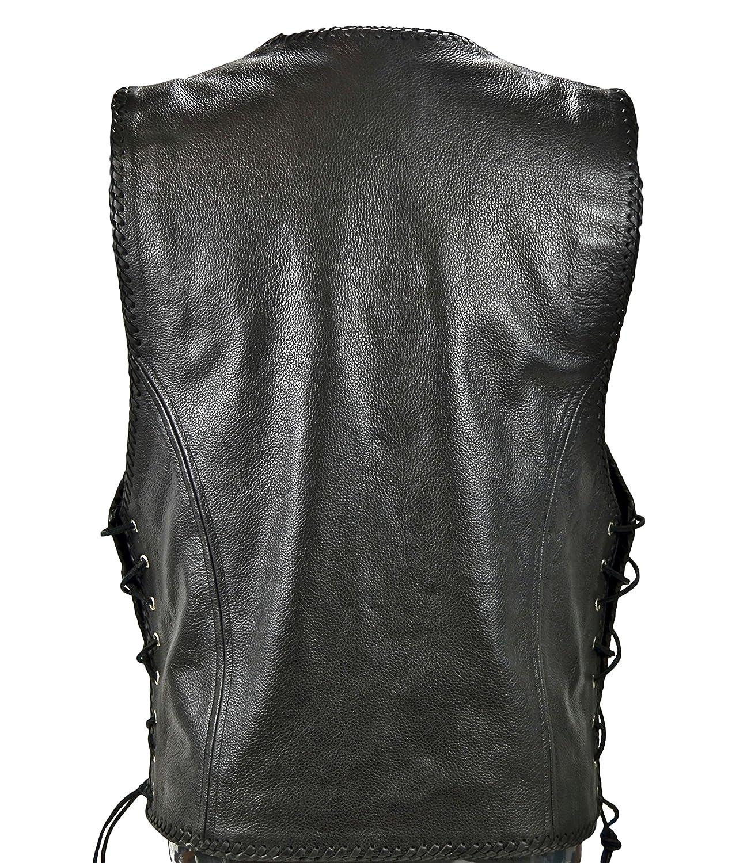 Gilet in pelle uomo Motocicletta Vest Biker Club Rocker 1010 (L)   Amazon.it  Abbigliamento f77d982fc3c