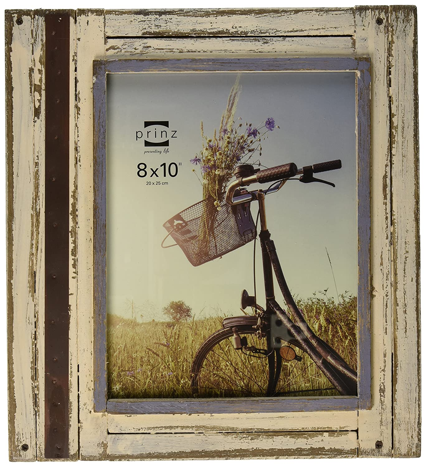 Prinz Rustic River Wood Frame in Distressed White Finish, 4 by 6 4 by 6 3700-0146