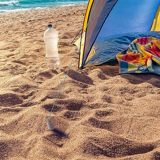 6 // 8 Packs Ancre au sol Camping Outdeers Sardines pour Tentes avec Stabilit/é Unique avec Sac et Cordon R/éfl/échissant Sardines Tentes de Tente en Aluminium 25cm