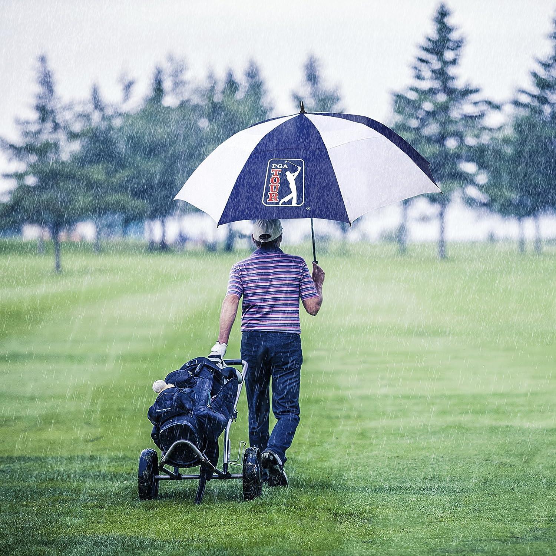 PGA Tour PGAT10 - Paraguas resistente al viento doble varilla de golf: Amazon.es: Deportes y aire libre