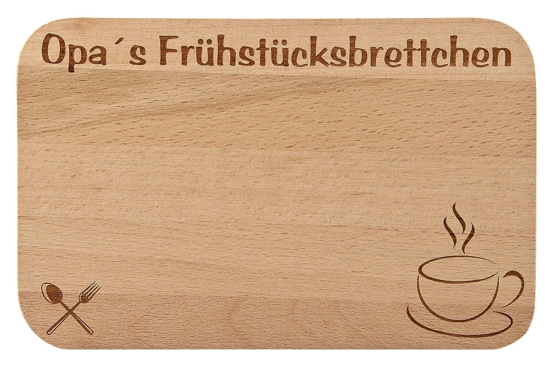 Frühstücksbrettchen/Frühstücksbrett mit Gravur für die Oma als ...