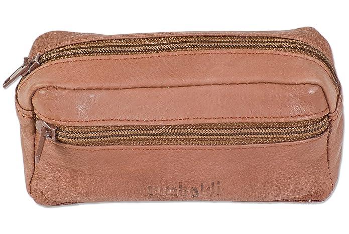Woodland sac-cl/és en cuir avec 2 anneaux de cl/és fait de doux de chamois non trait/ée