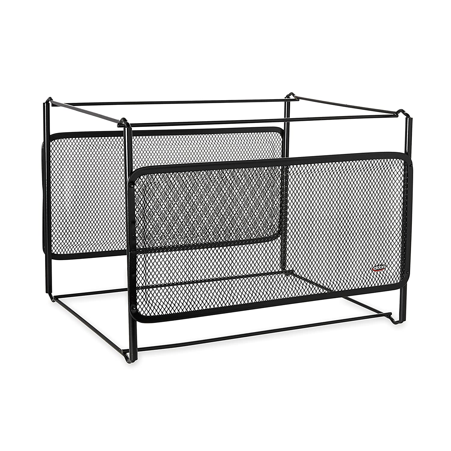 Rolodex - Eldon Mesh Collection Side-Load Double Tray with Hanging File, Black (22191)