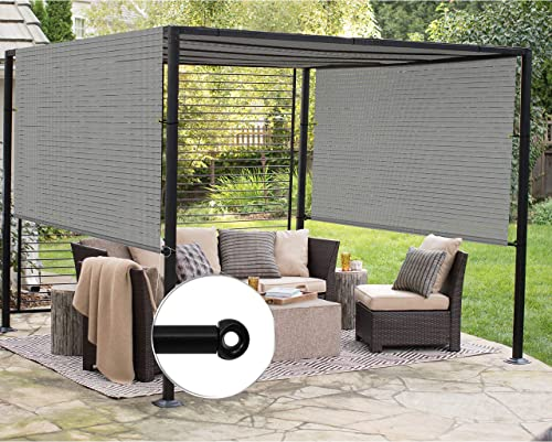 Patio Outdoor Shade Universal Replacement Pergola Canopy Cover 6'x28' Hollow Out Grey