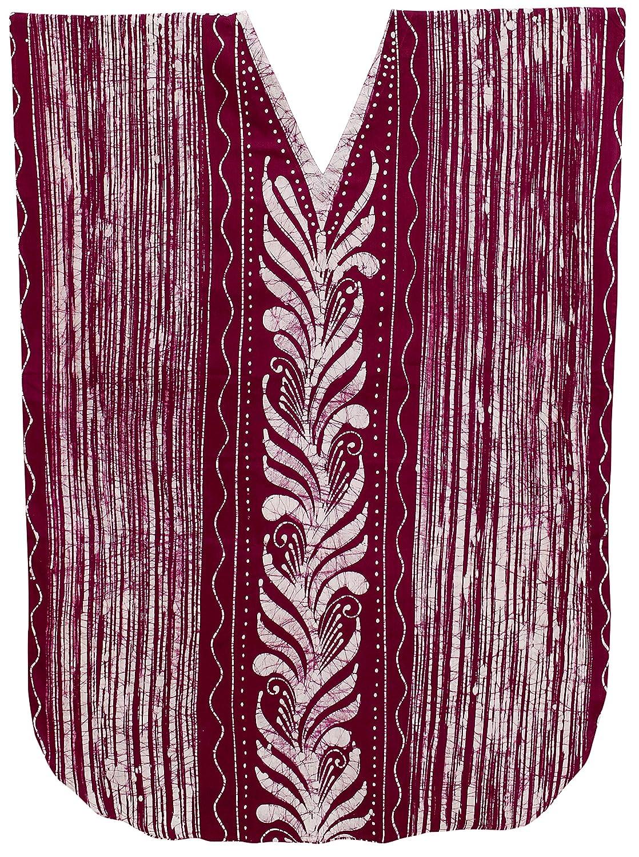 LA LEELA Mujeres del Vestido caftán Encubrimiento camisón Batik más Supersuave Rosa de algodón: Amazon.es: Ropa y accesorios