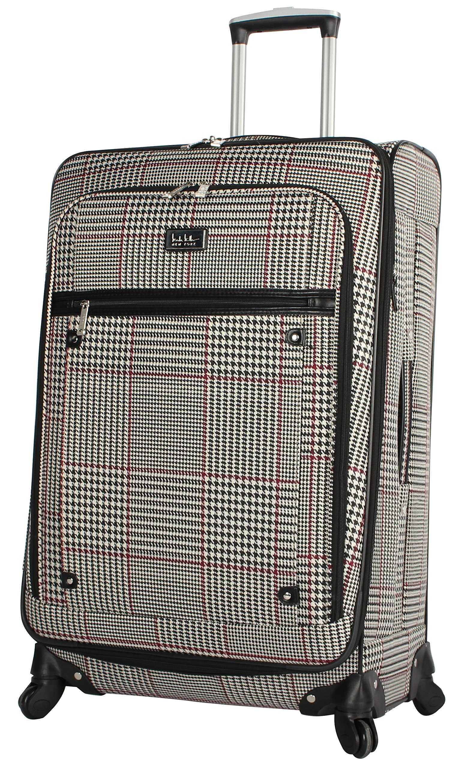 Nicole Miller New York Rosalie Collection 28'' Expandable Luggage Spinner (Beige)