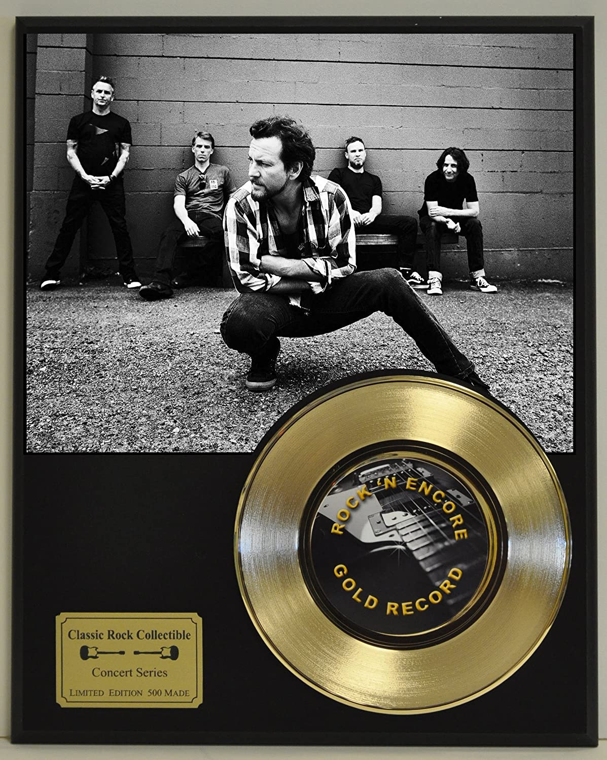 Pearl Jam Limited Edition Gold 45 Record Display. Only 500 made. Limited quanities. FREE US SHIPPING Classic Rock Collectibles