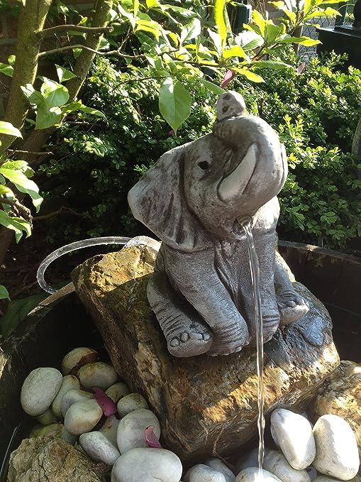 Gárgola Figura de elefante piedra Jardín Decoración Jardín figuras Elefantes de piedra: Amazon.es: Jardín