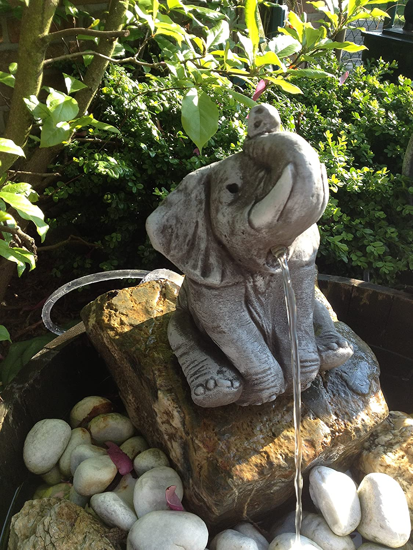 Steinfigur Wasserspeier Gartenfigur Steinkopf für Garten Deko ...