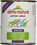 Almo Nature Dog Food Daily Menu with Turkey, Pack of 12 x 800g