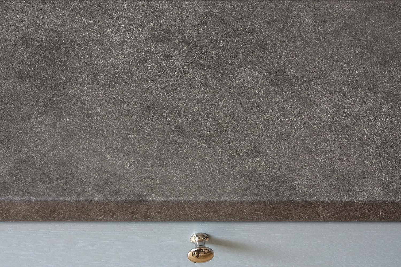 Grauer Stein - Resopal Küchenarbeitsplatten (Aufkantung 3m × 95mm ...