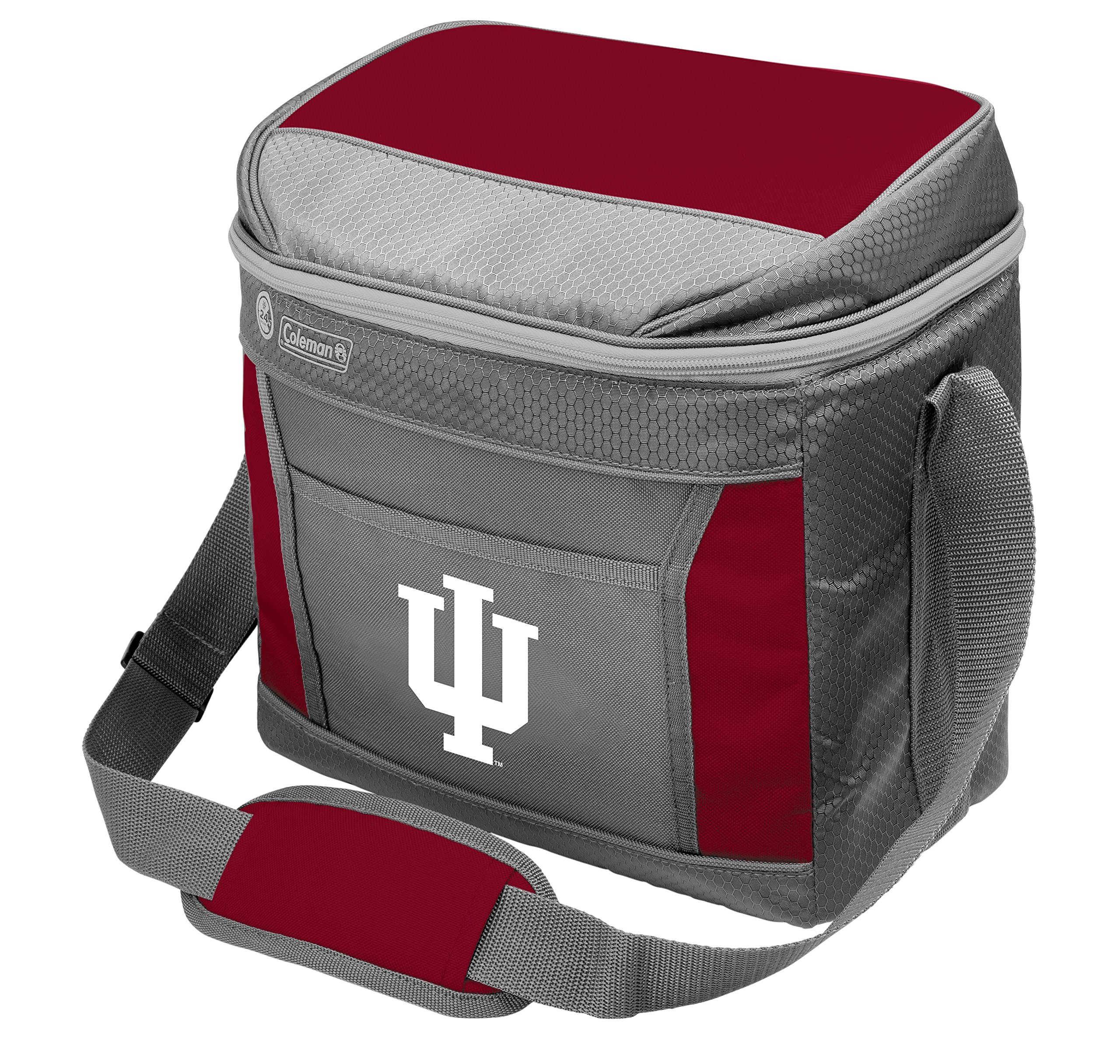 Coleman NCAA Soft-Sided Insulated Cooler Bag, 16-Can Capacity, Indiana University Hoosiers