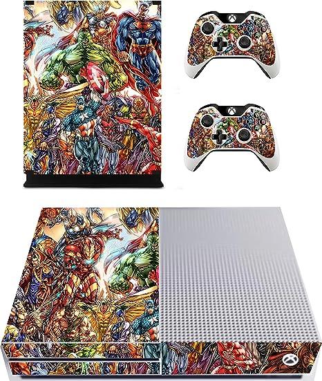 Pegatinas de superhéroes para consola y mandos de Xbox One S, xbs17: Amazon.es: Hogar