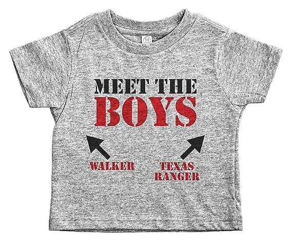 a07a705a Amazon.com: Walker Texas Ranger Funny Toddler Shirt / MEET THE BOYS / Humor  Kids / Baffle: Clothing