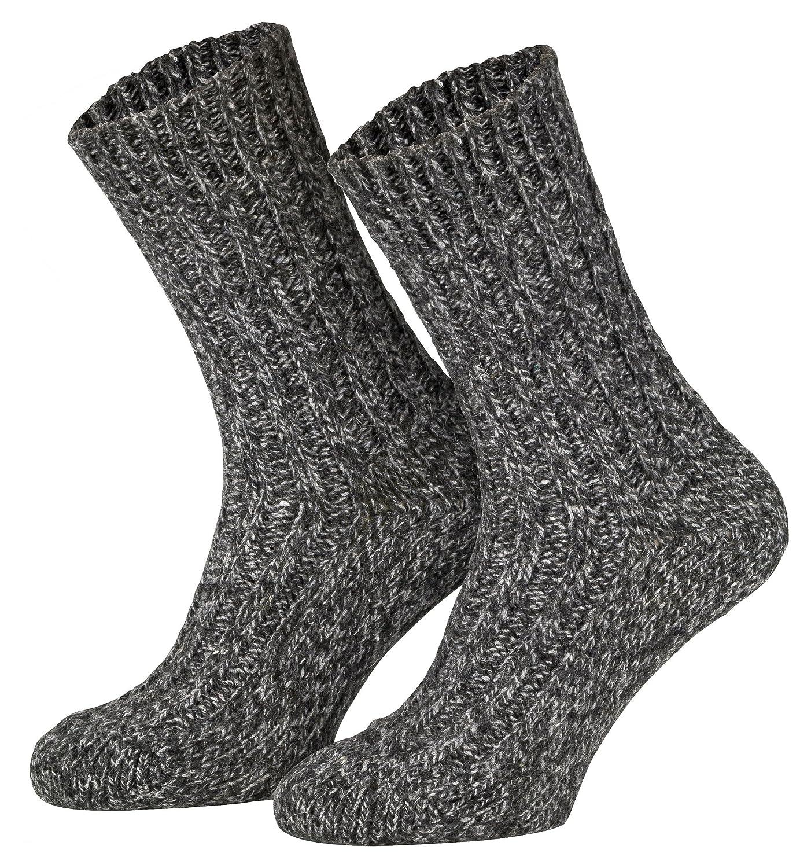 Tobeni 4 Pares de Calcetines gruesos calientes Noruegos Calcetines Pre-lavados de la Lana del Invierno para las Mujer y los Hombre: Amazon.es: Ropa y ...