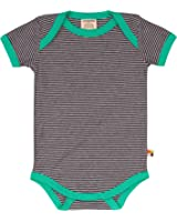 loud + proud Unisex Baby Body Kurz, Ringel Bodysuit