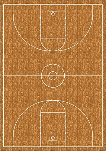 Milliken My Team Sport Hoopster Novelty Rug 5 4 x 7 8