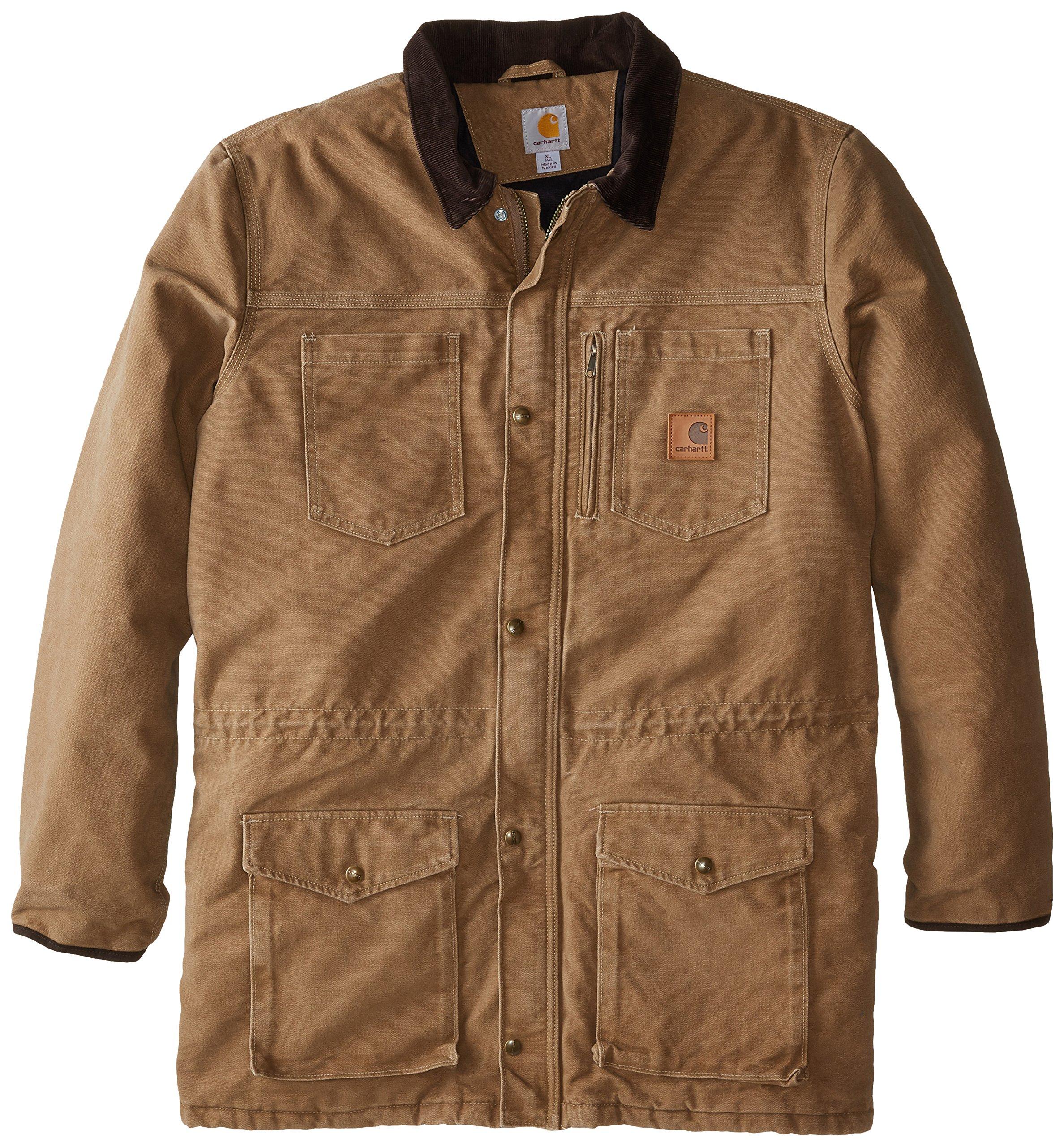 Carhartt Men's Big & Tall Canyon Coat,Frontier Brown,3X-Large Tall