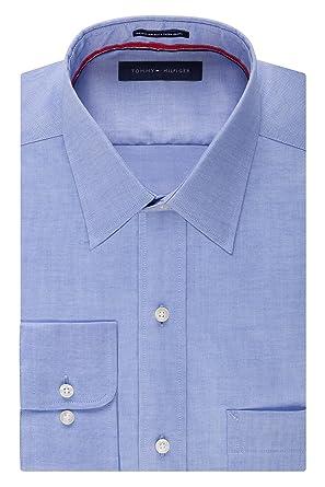 Tommy Hilfiger Mens Long Sleeve Regular Fit Non-Iron Shirt