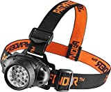 PATHFINDER 21 LED Headlamp Headlight – Lightweight, Comfortable and Weatherproof Flash Light/Torch – Water Resistant Safety Head Lamp - 4 User-Friendly Modes of Operation - Garage Workshop Garden Head lamp, Head Torch for Biking, Cycling, Climbing, Camping, Dog Walking, Hiking, Fishing, Night Reading, Riding, Running and other Outdoor and Indoor Activities - Adjustable Head Strap - 135 Degrees Adjustable Beam Angle - 100,000 Hours LED lifetime (in RETAIL PACKAGING) - BLACK