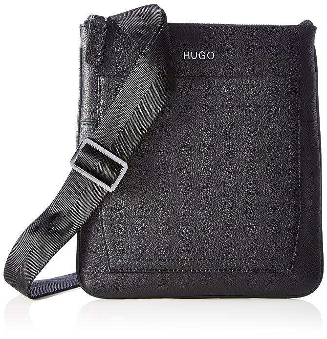 HUGO BOSS HUGO Twin_ns Zip 10202062 01, Sacs portés épaule homme, Schwarz (Black), 6.5x28x26 cm (W x H D)