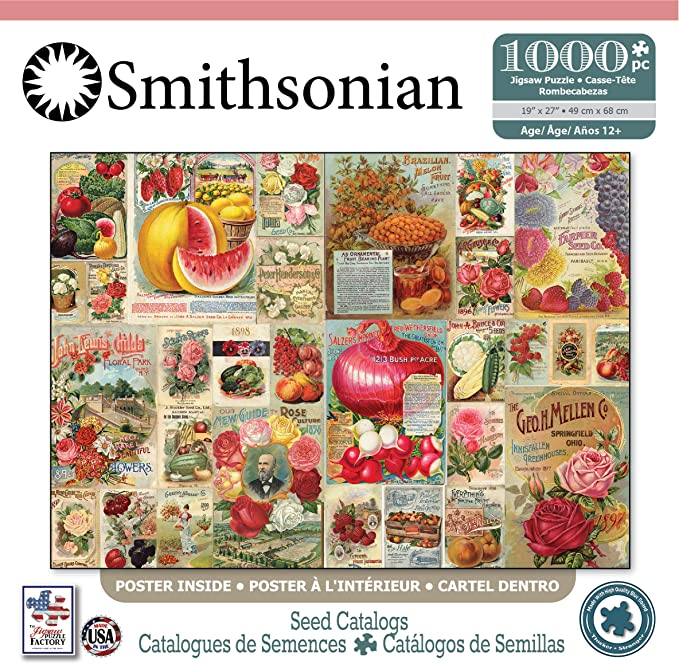 The Jigsaw Puzzle Factory Smithsonian-Seed Catalogs Jigsaw Puzzle (1000 Piece), Full-Color