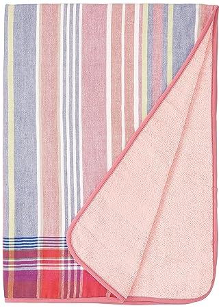 b563fd17df98b2 西川産業 ムースパフ ガーゼ×パイルパイル糸 パフィールコットン タオルケット ピンク LFP7001020-P