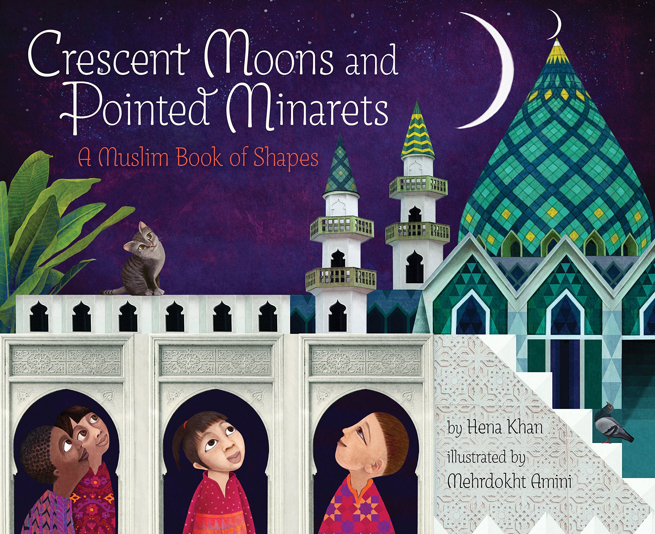 Book cover showing Crescent Moons and Pointed Minarets: A Muslim Book of Shapes