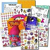 TROLLS Stickers Travel Activity Set Bundle with Stickers Activities and Specialty Door Hanger
