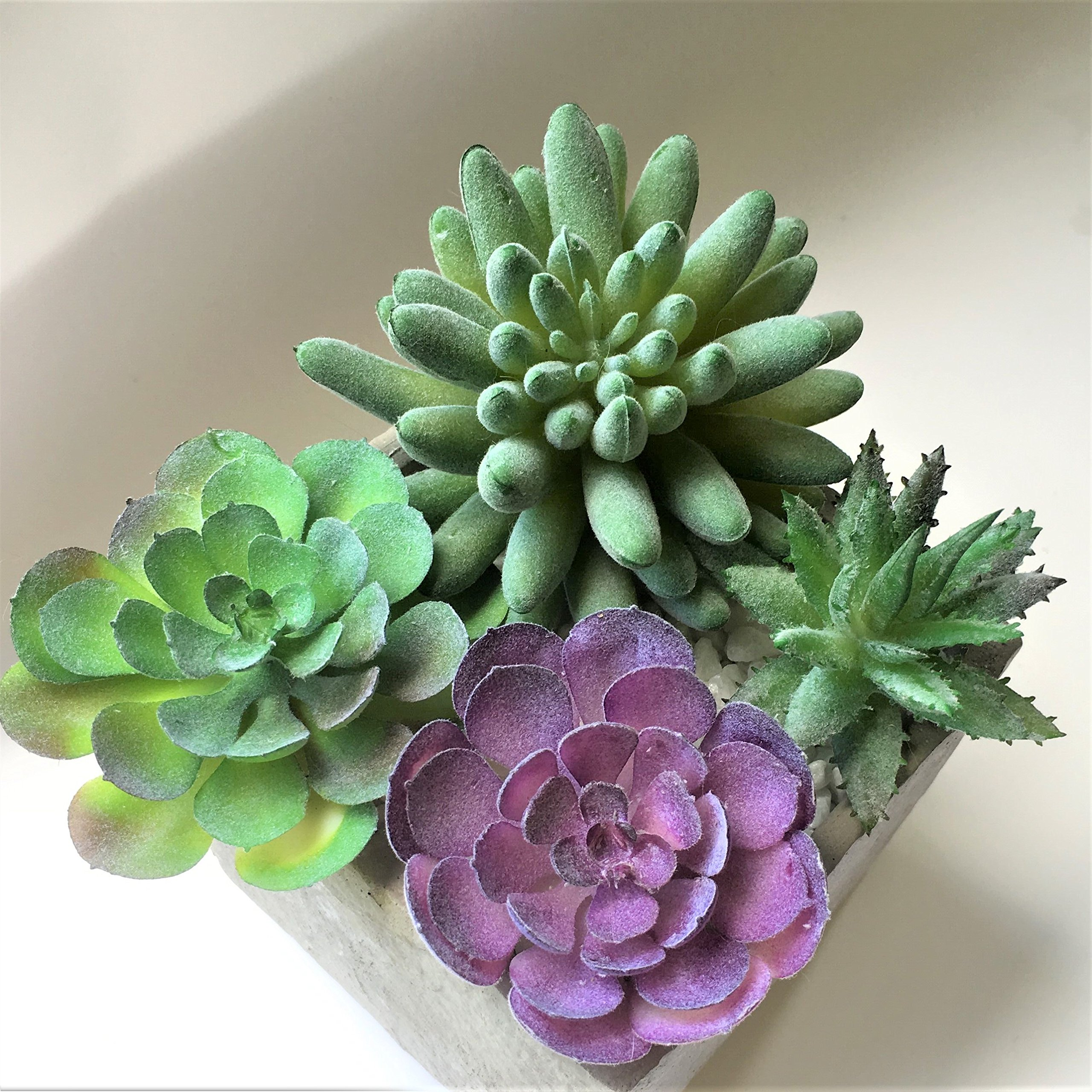 A-FUN Realistic Fake Artificial Succulent Plants Unpotted Fake Cactus for Home Gardern Diy Decoration 4 PCS