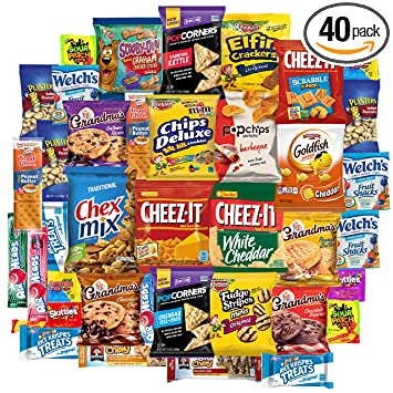 Snack Chest Care Package 40 Count Variety Snacks Gift Box College Students