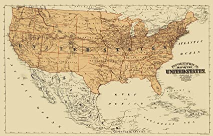Amazon Com Old North America Map United States Mexico Canada