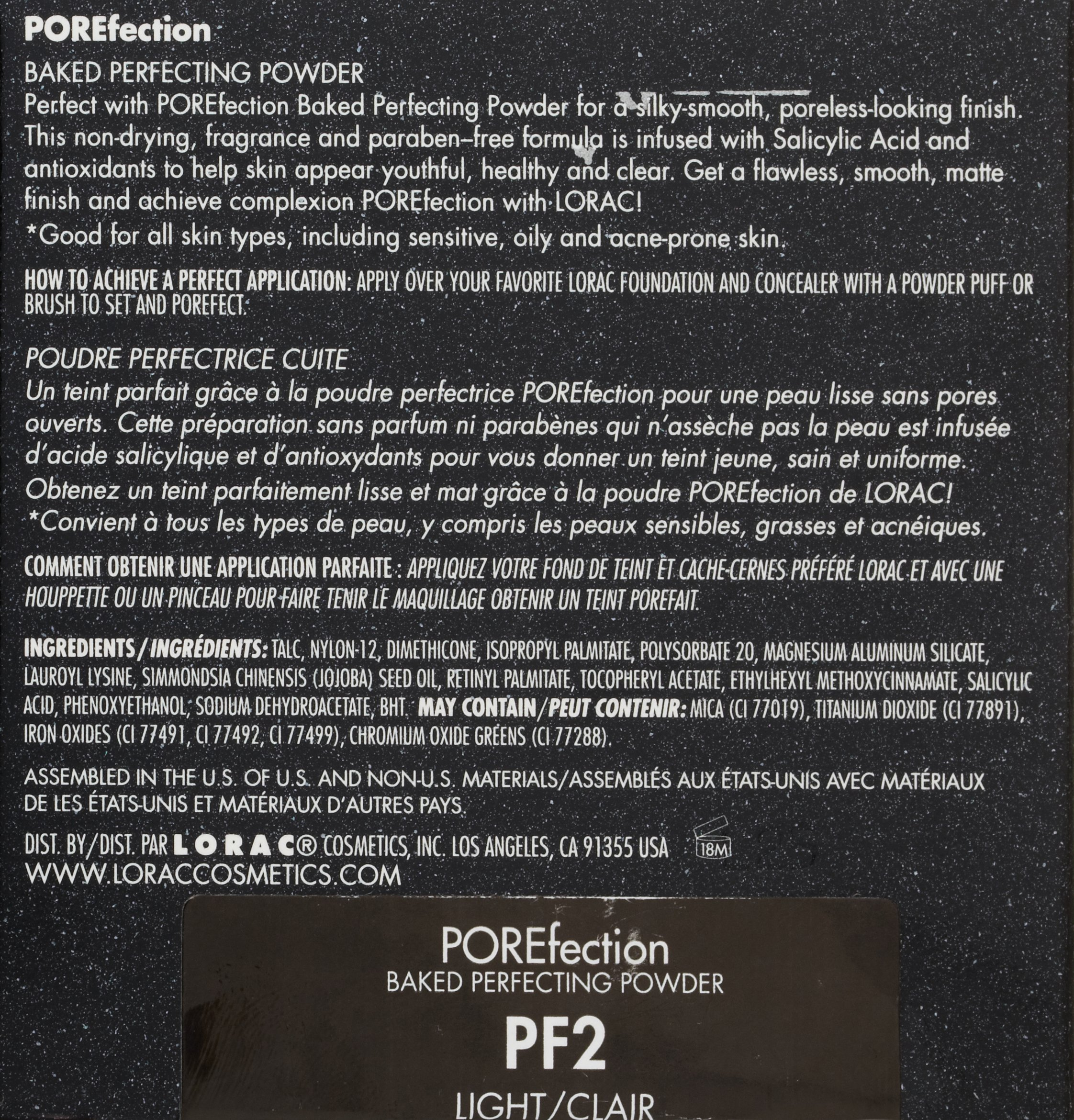 LORAC POREfection Baked Perfecting Powder, PF2 Light by LORAC (Image #3)