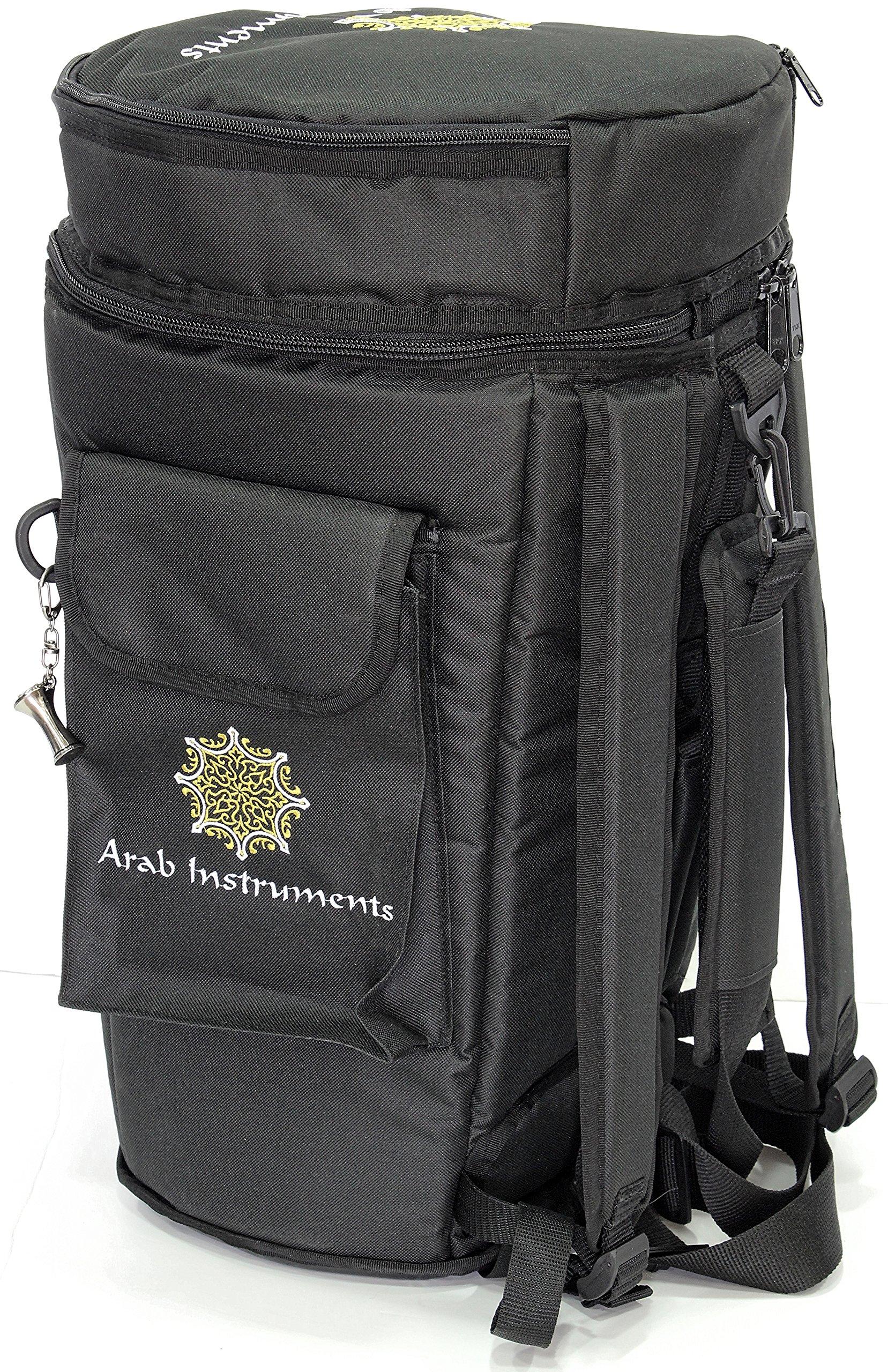 First Class Darbuka / Doumbek Case Bag - Black + Darbuka Keychain Holder