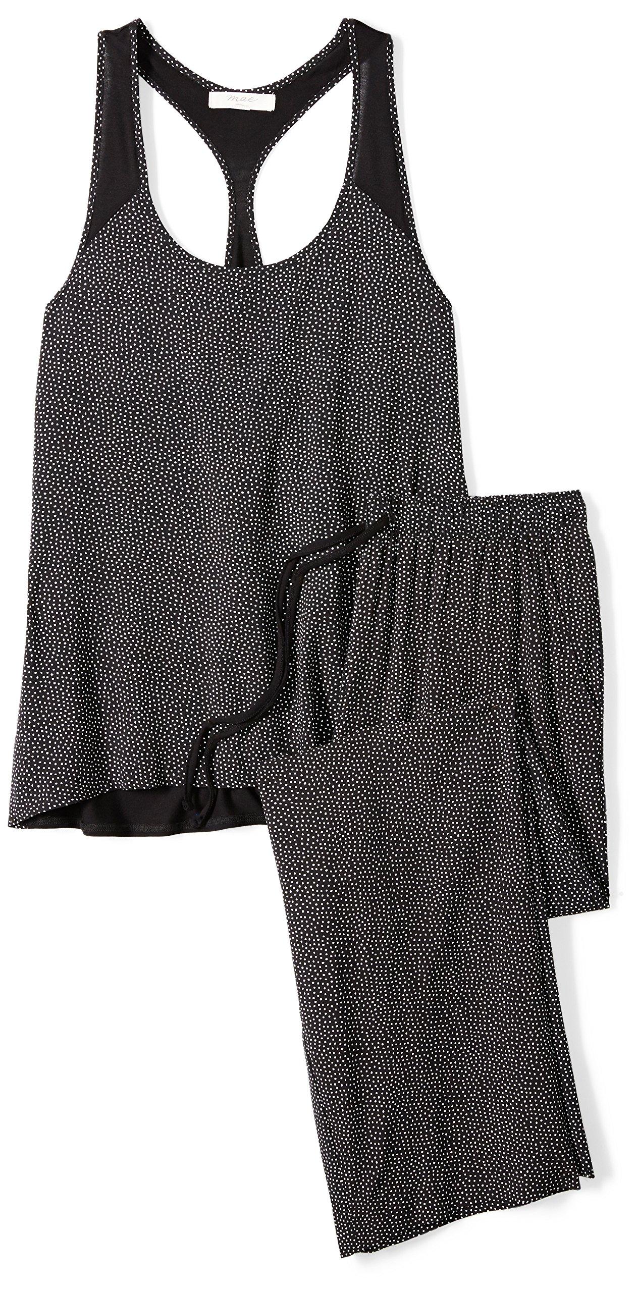 Amazon Brand - Mae Women'S Sleepwear Racer Back Pajama Set -