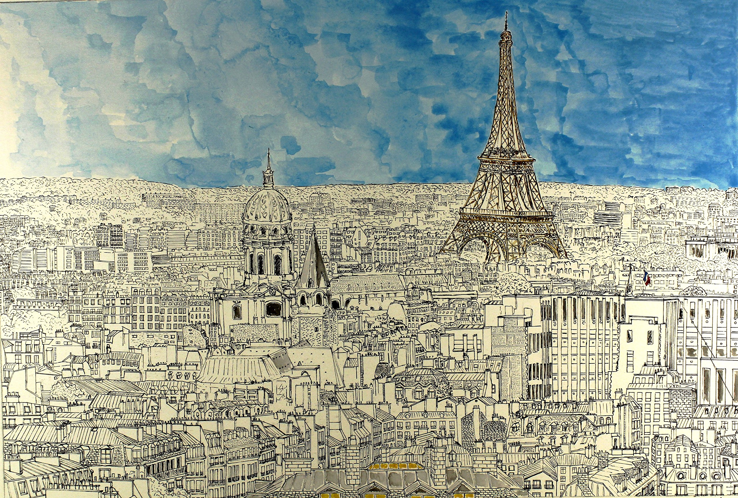 Paris view by