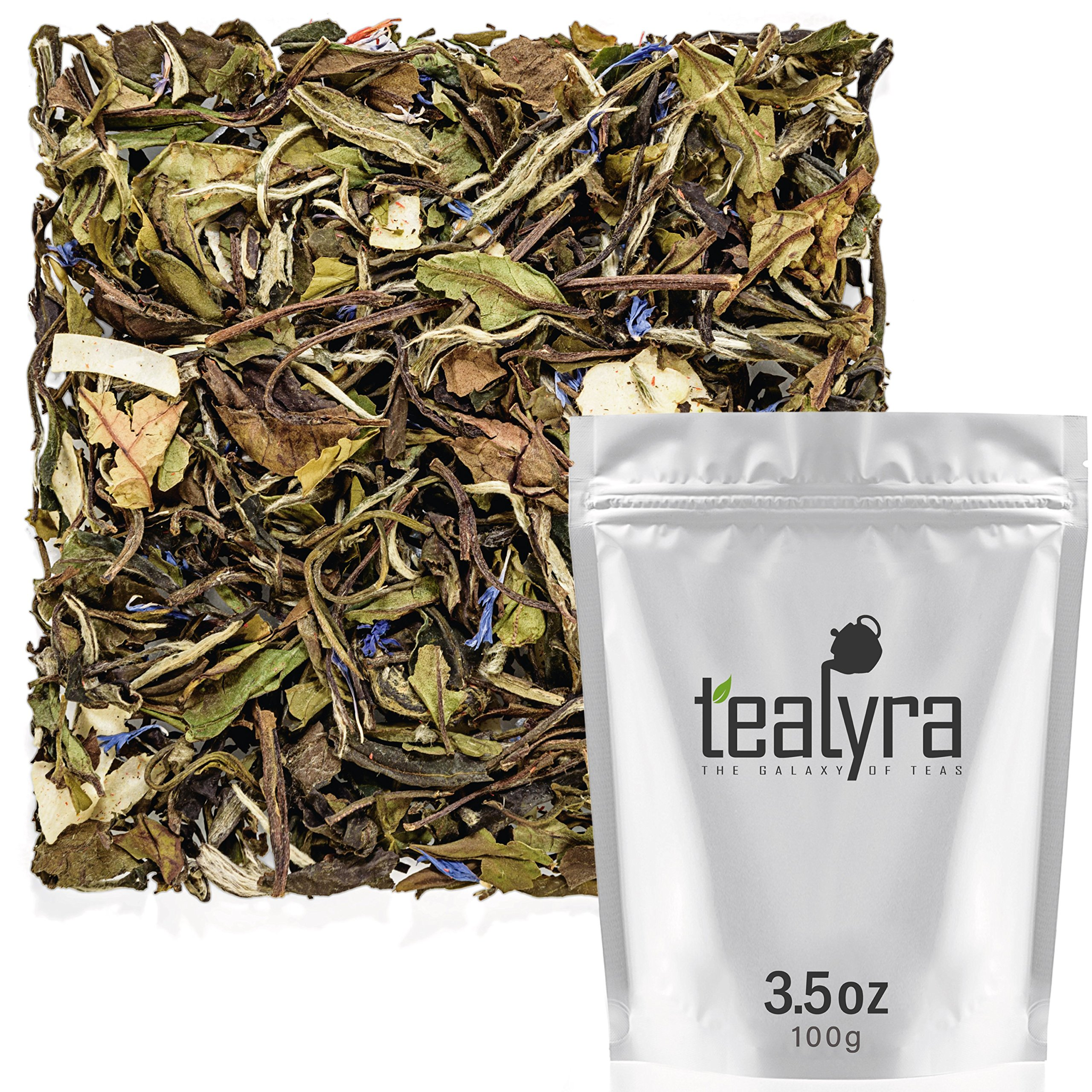 Tealyra - White Coconut Cream - Premium White Tea with Coconut Chips Blend - Loose Leaf Tea - High in Antioxidants - Caffeine Level Low - All Natural Ingredients - 100g (3.5-ounce) by Tealyra