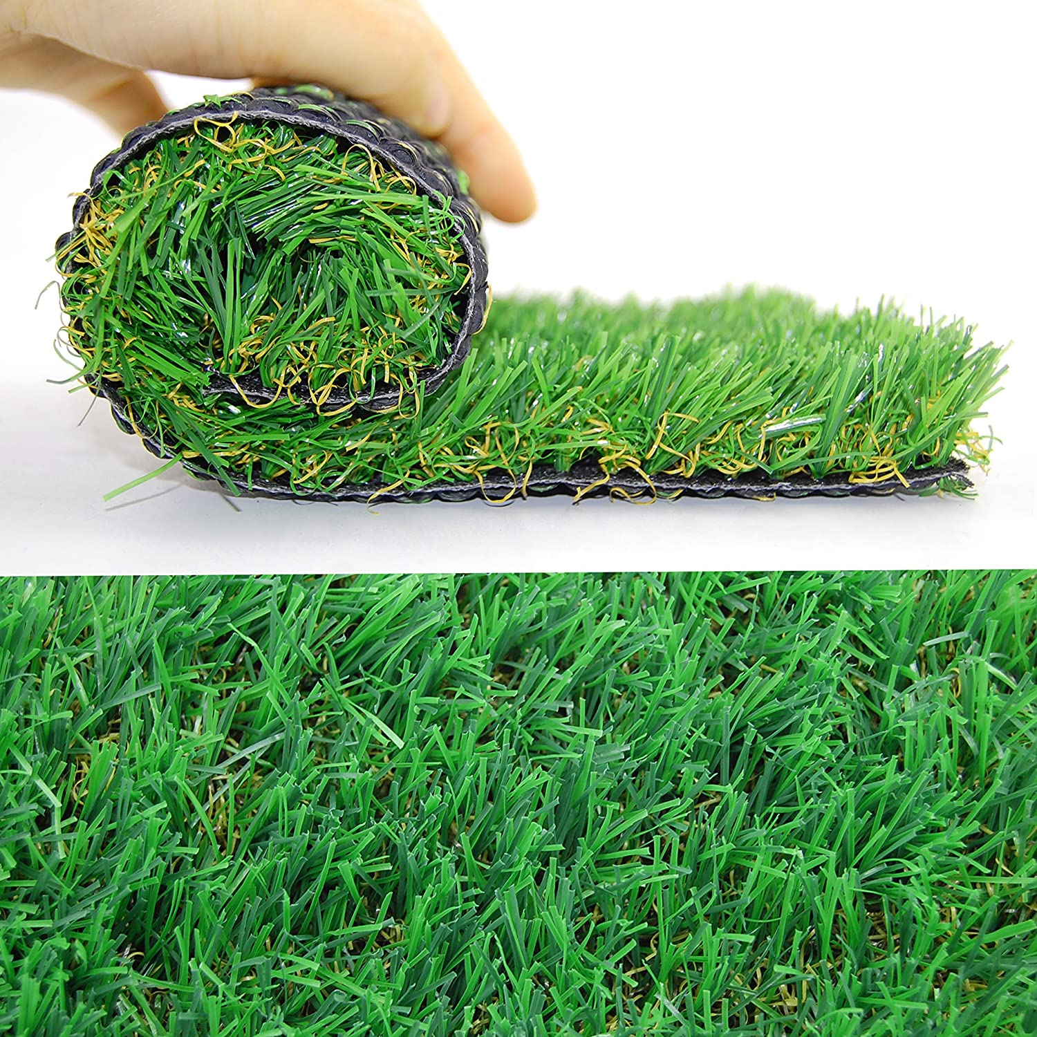 Shaddock Fishing Artificial Grass Turf Lawn Fake Grass Thick Synthetic Turf Carpet Indoor Outdoor Landscape Rubber Backed With Drainage Holes,1.77inch Blade Height by Shaddock Fishing