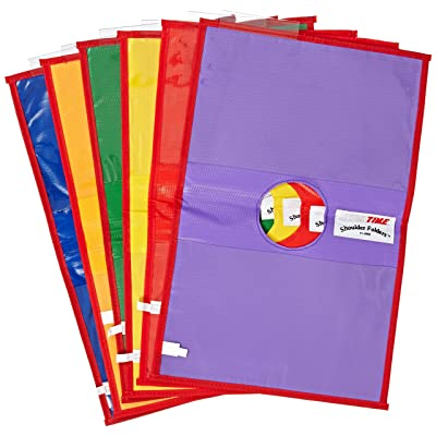 Sportime Shoulder Folders, 8 x 11 Inches, Set of 6, Assorted Colors - 030846: Industrial & Scientific
