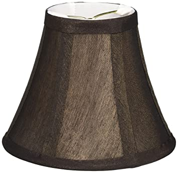 Lite Source CH594-6 Lamp Shade, 6-Inch, Bronze/White Liner ...