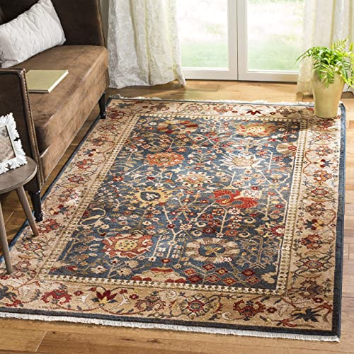 Safavieh Kashan Collection KSN303G Traditional Blue and Tan Area Rug 8 x 10