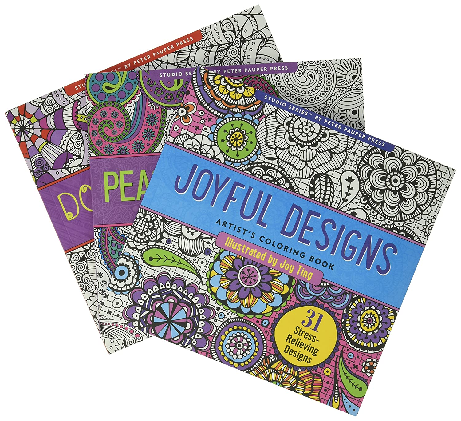 Amazon Adult Coloring Book Value Pack Doodle Joyful Paisley 3 Toys Games
