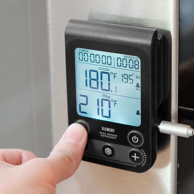 sondas de Acero Inoxidable y Rango de medici/ón de Temperatura Alarma Hotloop Term/ómetro Digital para Parrilla Carne Term/ómetro para Cocina con Temporizador 50 /° C ~ 300 /° C
