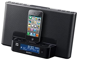 Sony XDRDS16IP DAB+ - Reloj y radio con base de carga y reproducción para Apple iPod y iPhone, color negro (importado): Amazon.es: Electrónica
